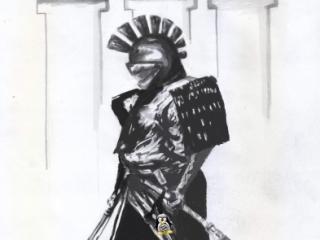 Spartan Samurai with a doll