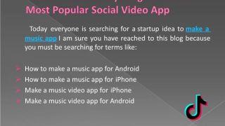 How To Make A Music App Like Musical.ly/TIKTOK