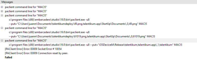 IOS App - Socket Error Deploying to MAC - Forum - Embarcadero Community