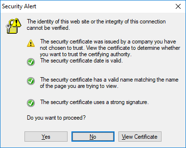 what is a security dating certificate