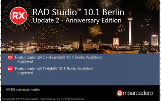 Самый свежий релиз Embarcadero RAD Studio 10.1 Berlin Update 2