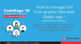 Learn How to manage Exif from graphic files with Delphi app - with Andrew Sovtsov - CodeRage XI