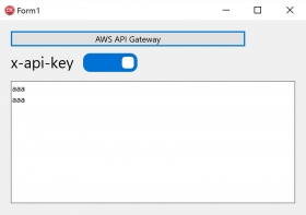 Use C++Builder, connect to AWS API Gateway API Key[JAPAN]