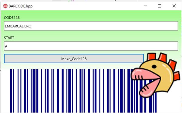 C++Builder Firemonkey(Win64) バーコード表示[JAPAN]