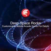 Deep Space Rocks Runtime Customizable Mobile Arcade Game For Delphi 10.2 Tokyo