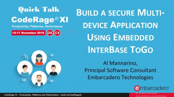 Multi-device Applications Using Embedded InterBase ToGo (CPP) with Al Mannarino