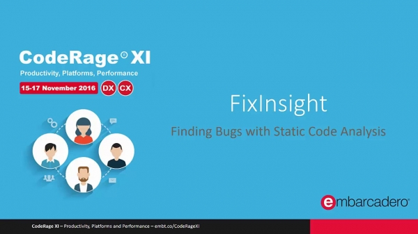 FixInsight: Finding Bugs with Static Code Analysis with RomanYankovsky