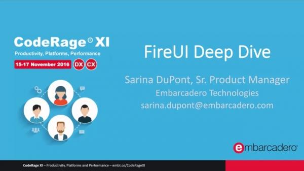 FireUI Multi-Device Designer Deep Dive With Sarina DuPont
