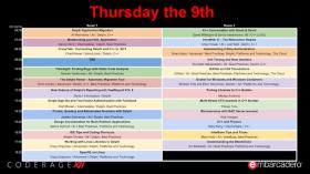 CodeRage XII Day 3 Schedule Update