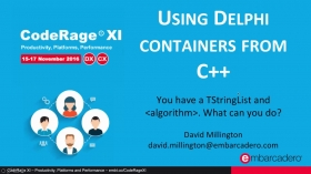 Using Delphi Containers like TList from C++ with David Millington
