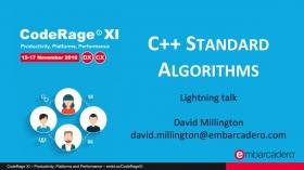 C++ Standard Algorithms with David Millington