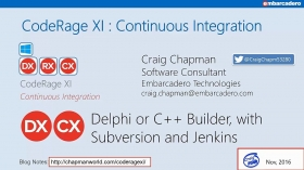 Continuous Integration with SVN, Jenkins and DUnit (Delphi) with Craig Chapman