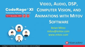 Video, Audio, DSP, Computer Vision, and Animations with Mitov Software with Boian Mitov