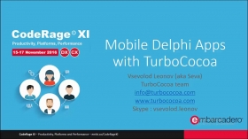 Mobile Delphi apps with TurboCocoa with Vsevolod Leonov