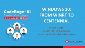 Windows 10: From WinRT to Centennial with Marco Cantu