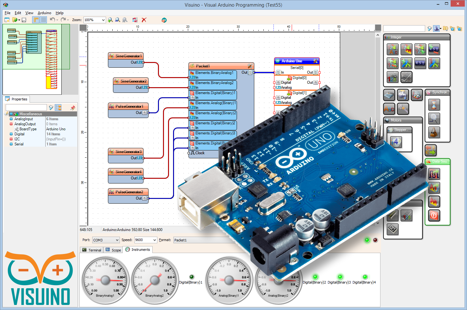 Arduino Playground - InternalTemperatureSensor