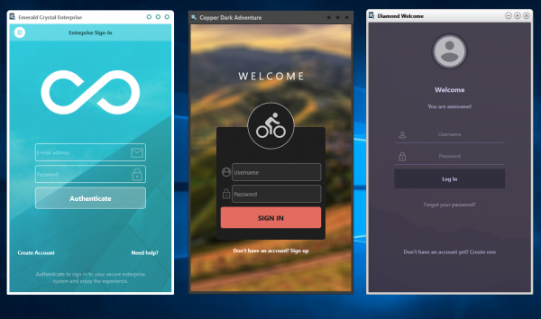 New in 10.2.3: FireMonkey UI Templates - Login Screens