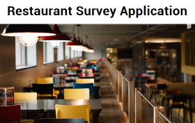RAD Server Solution Series: [Hospitality] Restaurant Survey Application
