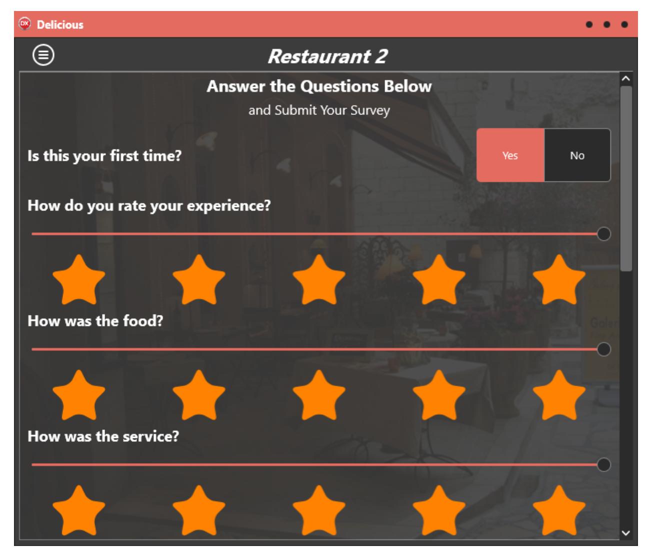 Rad server solution series hospitality restaurant survey 4 the hospitality survey admin app baditri Gallery