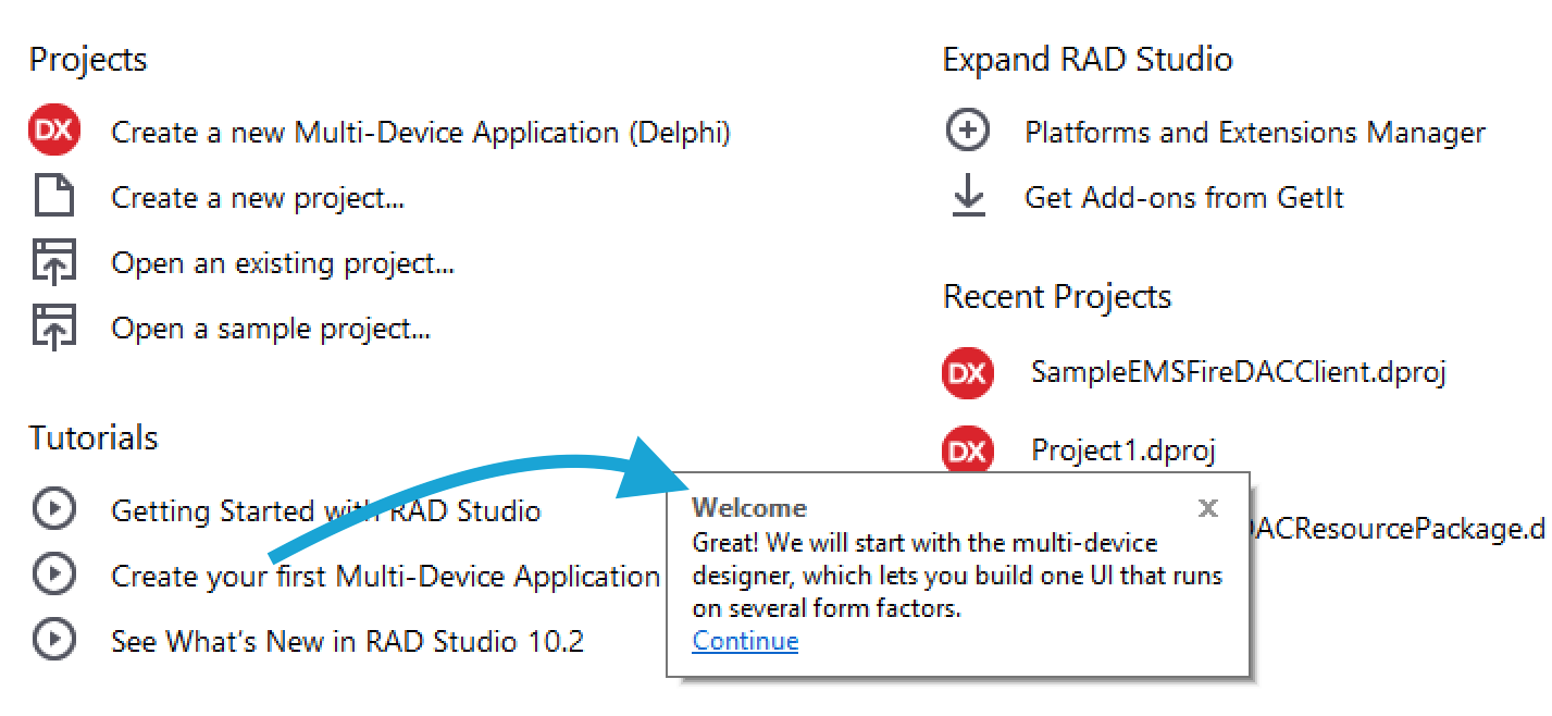 Get Started with RAD Studio 10 2 1 using Sample Projects - Community