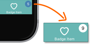Setting a Tab Item Badge Value
