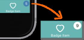 Setting a Tab Item Badge Value