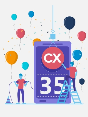 "std::out &lt&lt ""Happy 35th birthday, C++!"""
