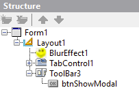 Add One More Form To The Project And Put There A TImage Component Aligned Client In Middle Of TRectangle TButton