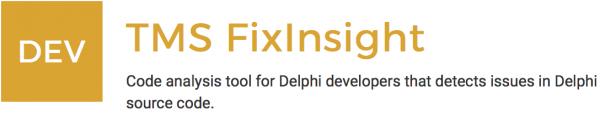TMS FixInsight – Un Plugin para hacer bien las cosas