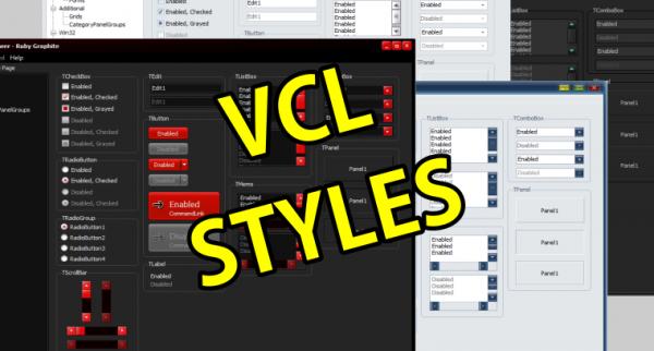 أنشاء وتعديل الـ Styles في تطبيقات Delphi (VCL) - ARABIC -